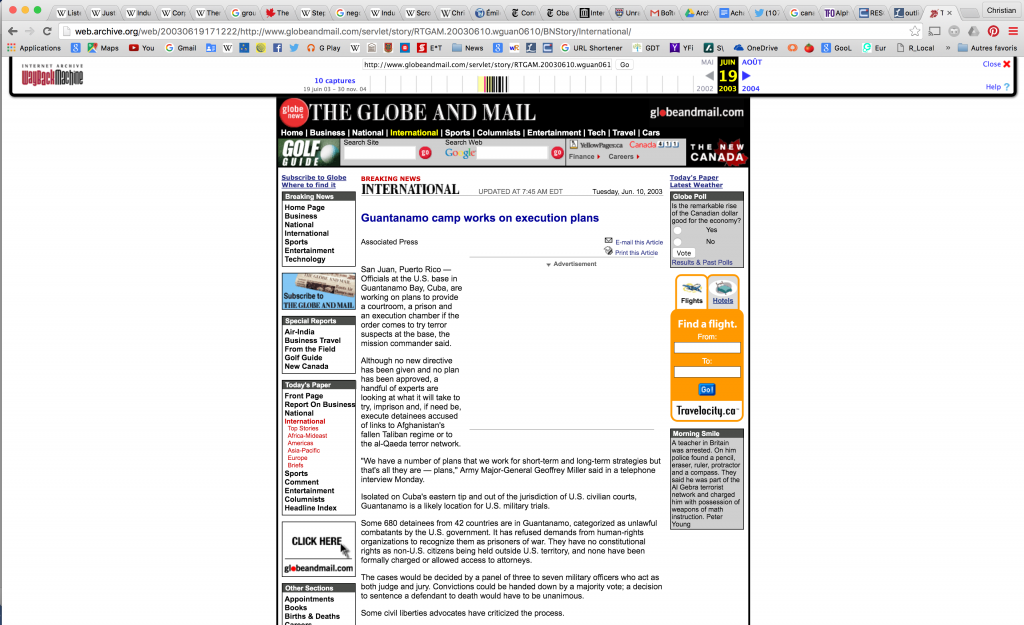 Figure 11. The Globe and Mail, June 10, 2003.