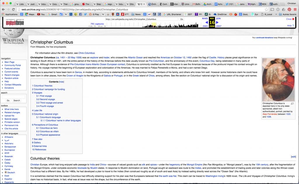 Figure 14. Wikipedia, May 17, 2006 (Wayback machine)
