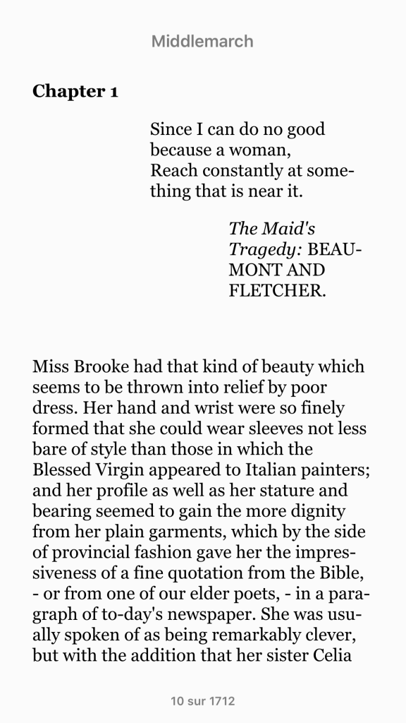 Figure 16. A page from MIddlemarch on a smartphone.