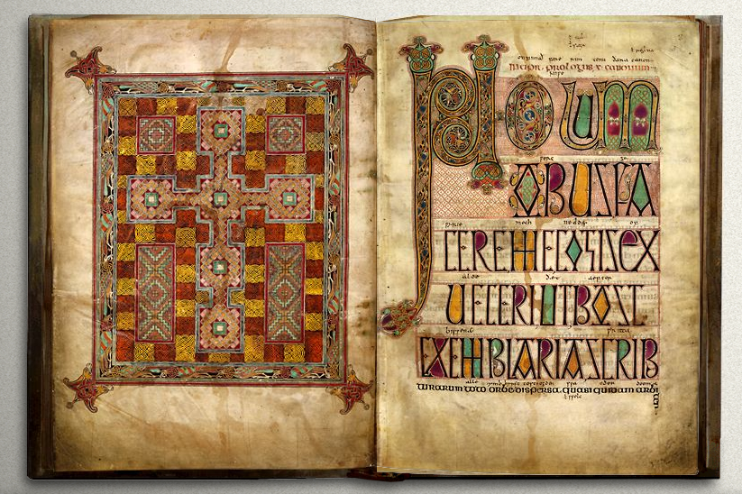 Figure 3. Codex of Lindisfarne 710-720. British Library.